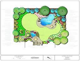 backyard design plans. Delighful Backyard Backyard Landscape Plans Design Impressive Designs  Entertainment Sloped Small  To Backyard Design Plans