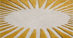 mustard yellow rug round circular wool tufted 200cm vaserely made com with regard to circle plan