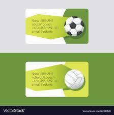 Soccer Business Card Sport Business Card Football Volleyball Soccer