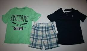 4t Size Chart Carters New Carters 3 Pc Outfit Polo Top Awesome Shirt Plaid Shorts