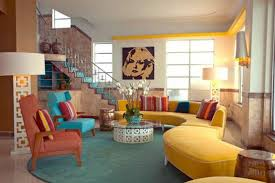 colorful living rooms. Yellow, Turquoise And A Round Carpet In This Colorful Living Room. Rooms I