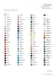 Swarovski Bicone Bead Colour Chart Beads And Sew On Dublin