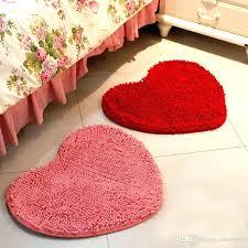 peach bath rugs heart shaped peach pads non slip bath mats kitchen bathroom home decor water
