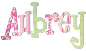 Wooden Letters Design Pink And Green Custom Designed Wood Letters