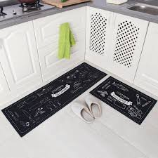 Non Slip Kitchen Floor Mats Amazoncom Carvapet 2 Piece Non Slip Kitchen Mat Rubber Backing