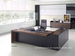 wooden office table. Manager Room Executive L Shape Wooden Office Table (HF-SI0563)