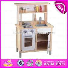 2016 pretend diy kids wooden toy kitchen role play