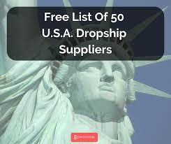 free list of 50 u s a dropship suppliers dropshipxl