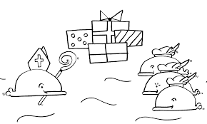 Sinterklaas Nieuwe Kleurplaat Wabbie De Walvis