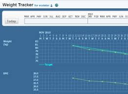 Online Weight Tracker To Track Weight Loss