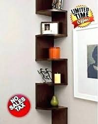 How High To Hang Floating Shelves Extraordinary Hanging Bookshelves Corner Hanging Shelf Storage Walnut Tall Wall