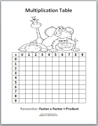 table chart for kids. Printable Times Table Chart | Learning Ideas - Grades K-8: Multiplication Tables. For KidsMath Kids