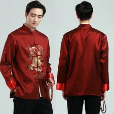 2019 <b>Vintage Classical Traditional Chinese</b> Clothing For Men Long ...