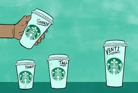 Starbucks Cup Size Chart Starbucks Cup Sizes Tall Venti Grande Trenta Drink Sizes