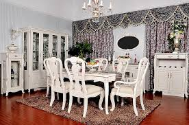 stunning all white dining room set french style dining room sets 10991