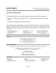 Interior Design Resume Sample Free Interior Design Resume Templates