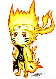 anime chibi naruto nine tails. Naruto Nine Tails Chakra Mode Chibi By IlikeMADIian On DeviantArt And Anime