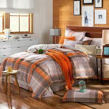 orange and grey bedding set