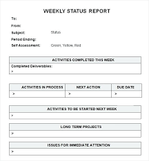 Weekly Summary Report Template Simple And Easy To Use Weekly
