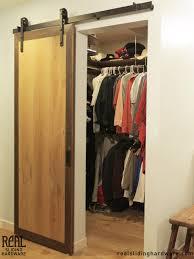 Closet sliding barn door- like the hardware