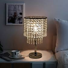bedroom chandelier lighting. Hile Lighting KU300085 Chrome Round Crystal Chandelier Bedroom Nightstand Table Lamp - Amazon.com D