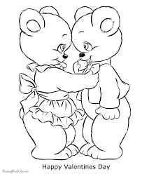 Small Picture Free Valentine Bear Coloring Pages 003