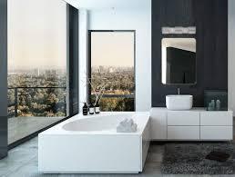 wall mount square bubble glass silver
