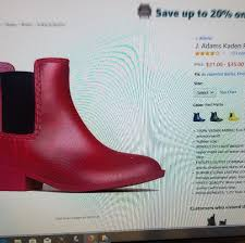 J Shoes Size Chart Ladies Red Rain Boots