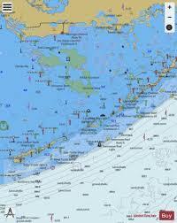 Key Largo Fishing Charts Florida Keys Alligator Reef To Sombrero Key Marine Chart