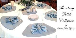 small placemats for tables round sweet pea linens shantung solid collection of come in wedge shaped