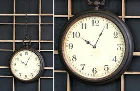 pocket watch wall clock pocket watch wall clock black