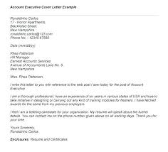 Account Executive Cover Letter Samples Account Manager Cover Letter ...