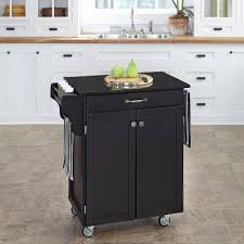 home styles create a cart black kitchen cart with black granite top kitchen cart target