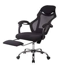 desk chair footrest. Delighful Desk BestMassage Recliner Office Chair Mesh High Back Task Computer Desk  With Footrest In O
