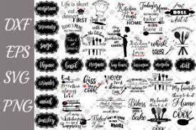 All free svg cut files. Kitchen Svg Bundle Graphic By Prettydesignstudio Creative Fabrica Free Svg Craft Quotes Svg Quotes