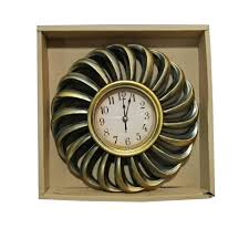 antique wall clock golden and black