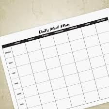 Daily Food Planner Daily Meal Planner Printable Digital Download Weekly Food Etsy