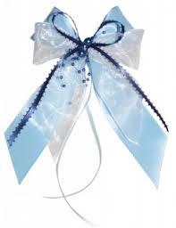 10 Weihnachtsschleifen Christbaumschmuck Schleifen Geschenke Weihnachten Ws1947 Hellblau Blau Weiß