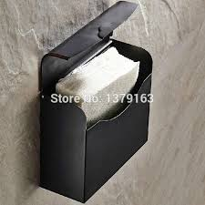oil rubbed bronze wall mounted copper covered square paper towel holder bathroom accessory aba300