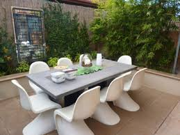 12 inspiration gallery from measurement for a modern outdoor dining table