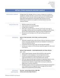11 Retail Manager Resume Resume Samples