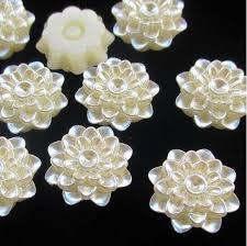 Online Shop <b>10pcs</b> /<b>lot</b> ABS Imitation <b>Pearl</b> White Color flower 20mm ...