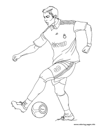 Cristiano Ronaldo Real Madrid Soccer Coloring Pages Printable