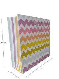 Design Pack Gifts Calars Paper Bags Zig Zag Design Gift Bags For Return Gifts