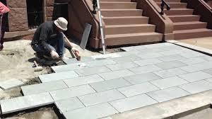 stone patio installation:  maxresdefault