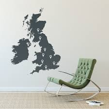 Small Picture Wall Decoration Uk Map Wall Sticker Lovely Home Decoration and