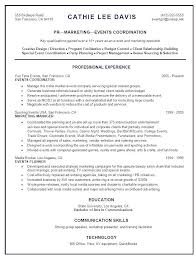 Event Planning Resume Example Examples Of Resumes