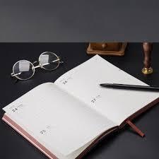 black schedule month planner notepad gifts journal calendar note book convenient office supplies decent