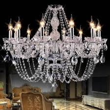 luxury modern chandelier bedroom k9 crystal ceiling chandelier res de cristal home decoration penntes silver