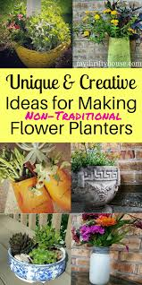 Ideas for making unique and creative flower planters